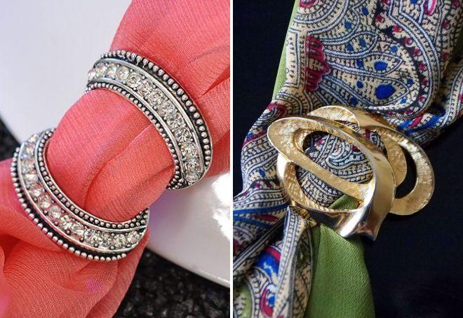 кольца для платков и шарфов