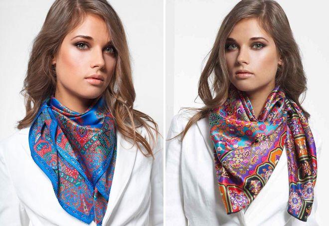 шелковый шарф платок