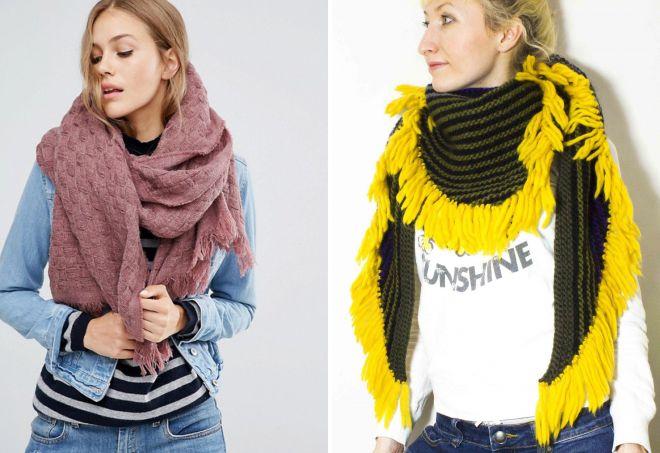 зимний шарф платок