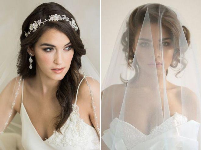 греческая свадебная прическа с фатой