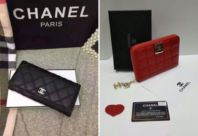кожаный кошелек Chanel
