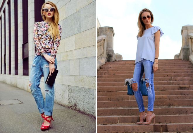 Модные женские рваные джинсы 2017 – с дырками и потертостями, укороченные и оверсайз