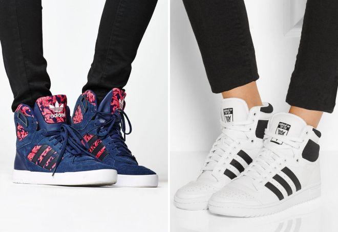 высокие кеды Adidas
