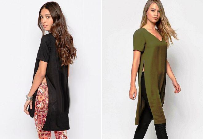женские футболки туники