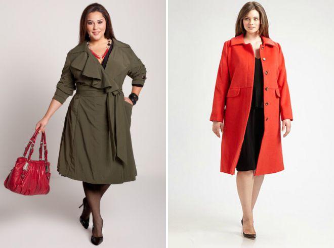 легкие пальто для полных