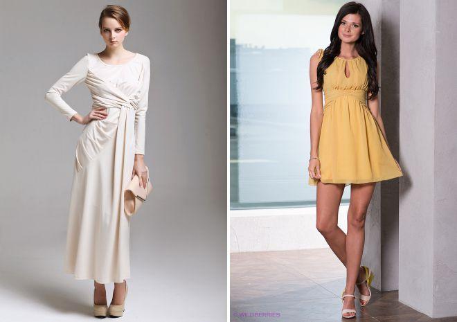 с чем носить платье с завышенной талией