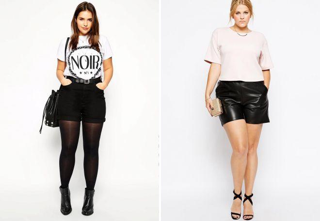 черные женские шорты с завышенной талией