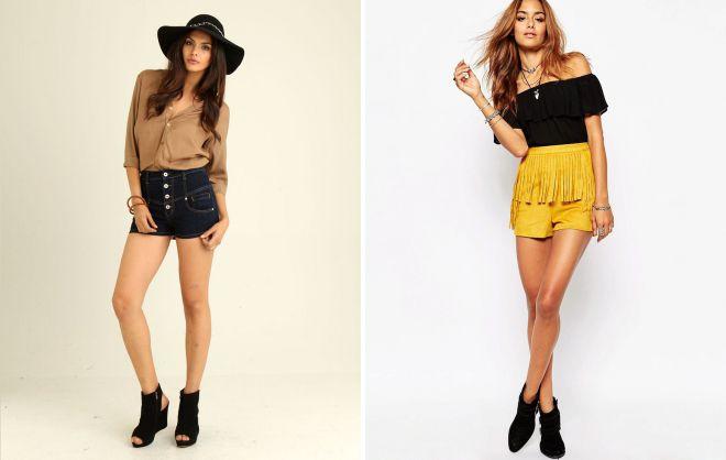 модные шорты с завышенной талией