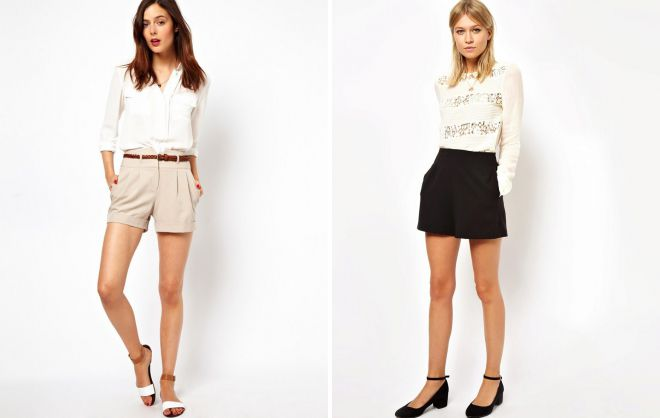 классические шорты с завышенной талией