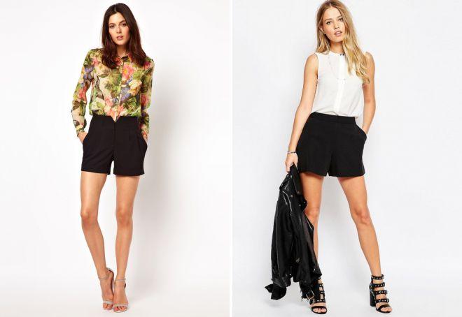классические женские шорты с завышенной талией