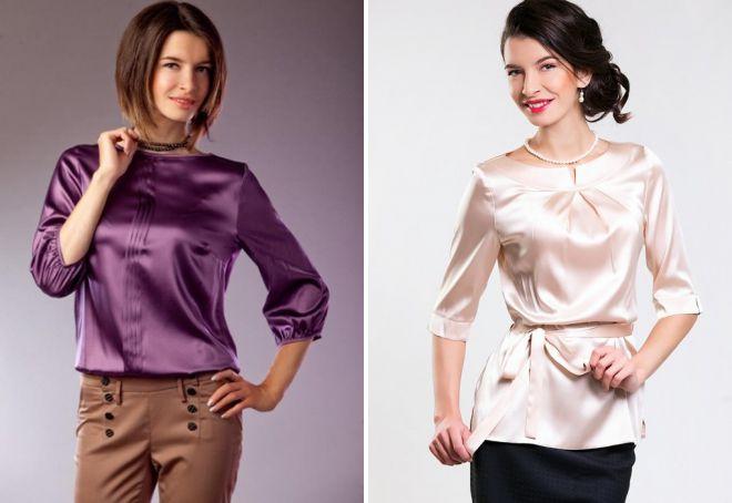стильные блузки из шелка