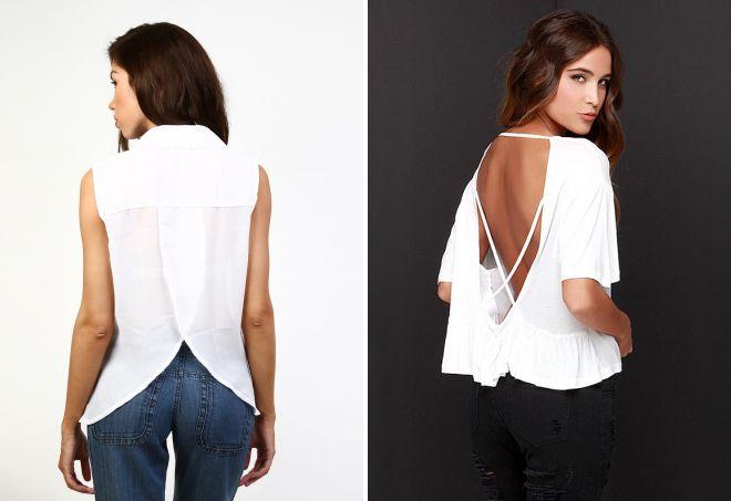 стильная блузка с интересной спинкой