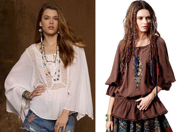 стильные блузки в стиле бохо