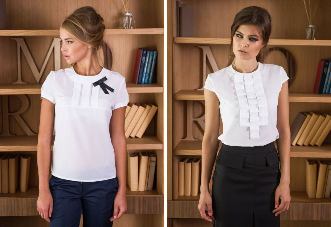стильные офисные блузки