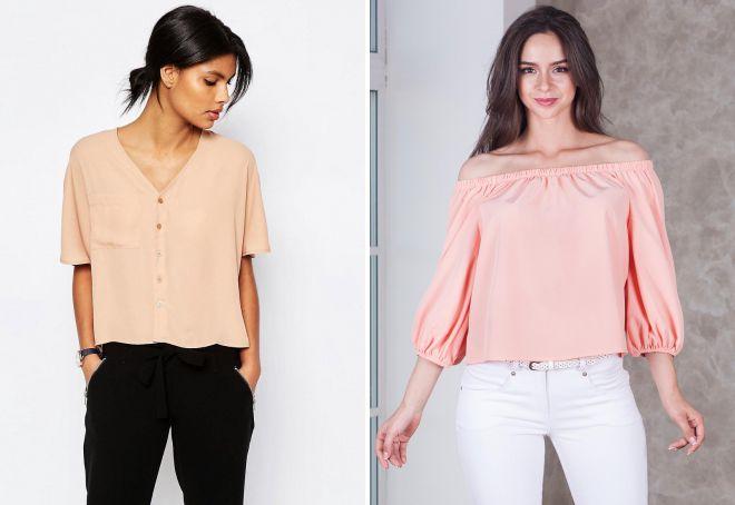 стильные блузки для девушек