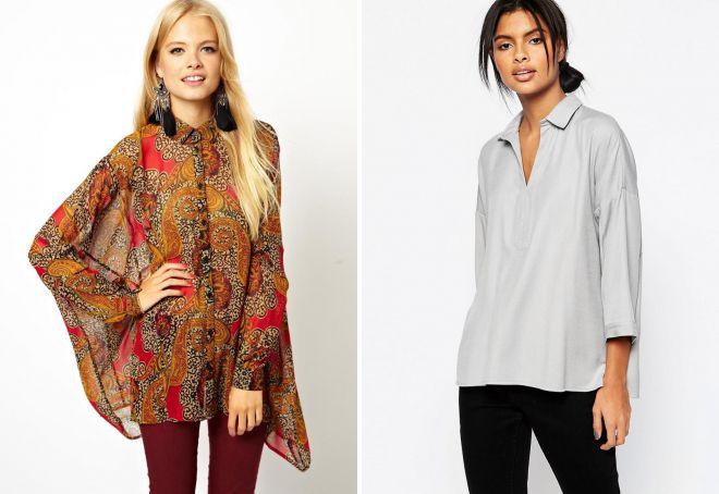 стильные женские блузки и рубашки
