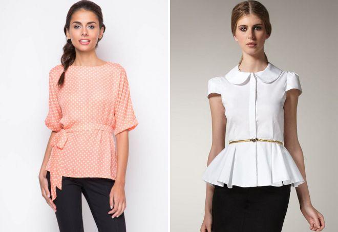 стильные блузки с коротким рукавом