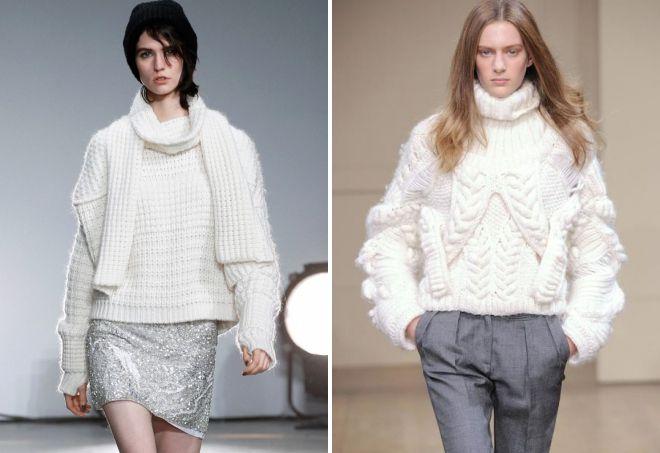 f2d0de0e30b Модный женский свитер крупной вязки – вязаный