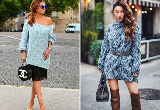 модный свитер крупной вязки