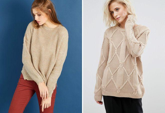свитер крупной вязки 2018