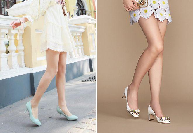 женские кожаные туфли на низком каблуке