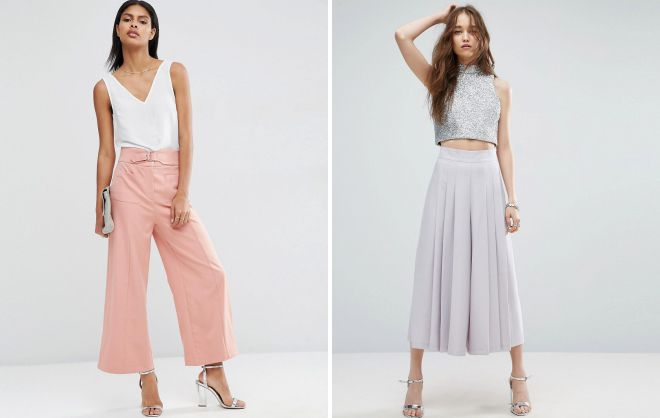 юбка брюки с завышенной талией