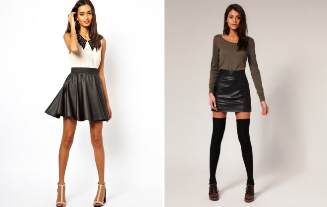 черные юбки с завышенной талией