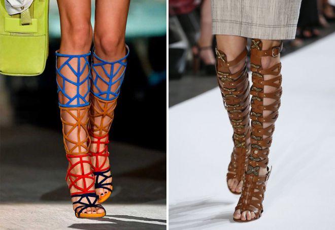 les tendances des chaussures d'été 2018