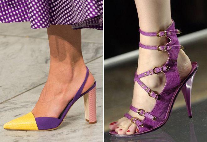 chaussure d'été tendance couleur 2018