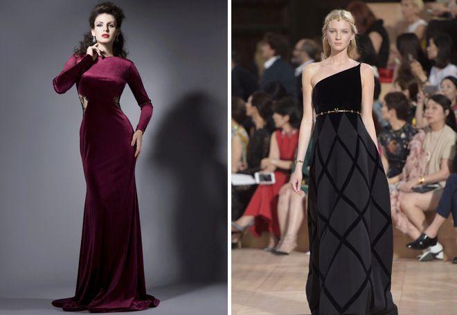 7f84311a7d6877f Модное бархатное платье – короткое и в пол, с запахом, футляр, с ...