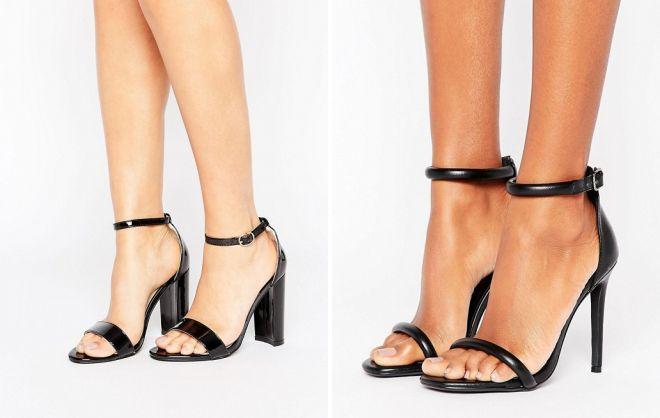 черные замшевые босоножки на толстом каблуке