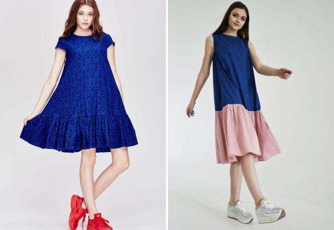 свободные платья в стиле оверсайз