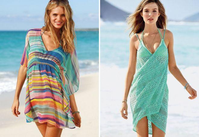 пляжное свободное платье