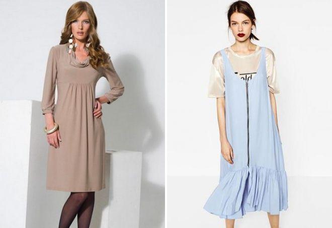 модное свободное платье