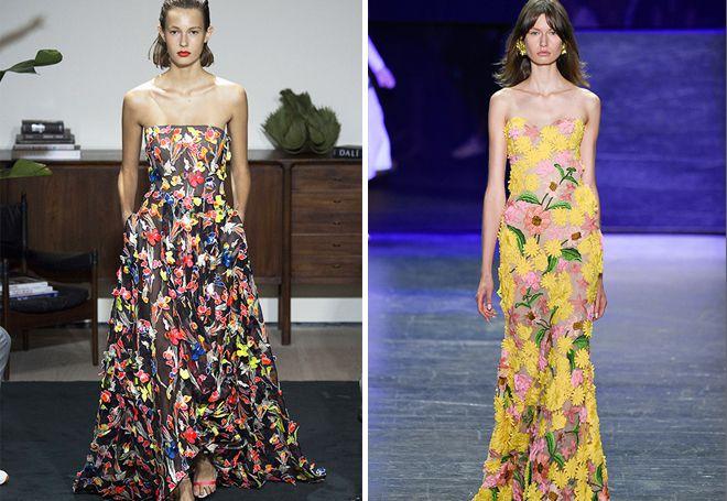 Платья макси с цветочным принтом