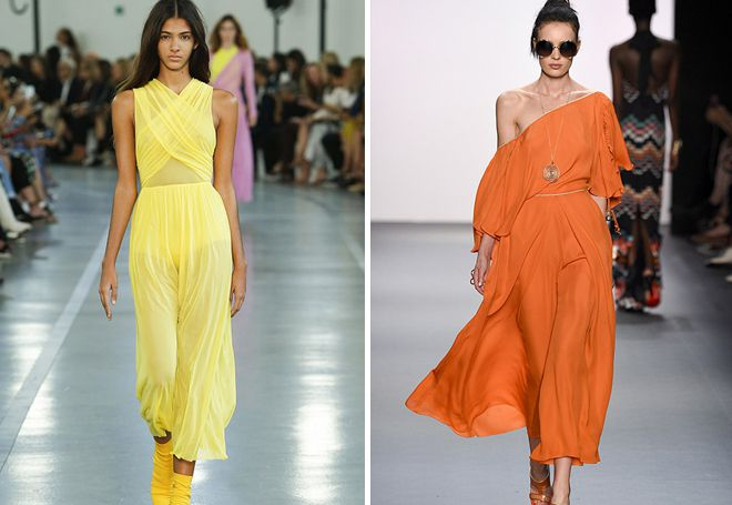 Яркие платья макси 2017