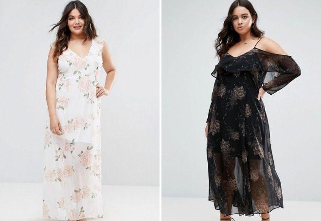 Красивые шифоновые платья 2017 – длинные и короткие 8620fbf849797