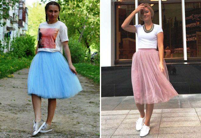 юбка пачка с кедами