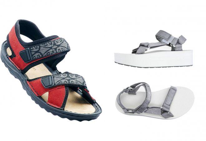 женские спортивные сандалии на липучках