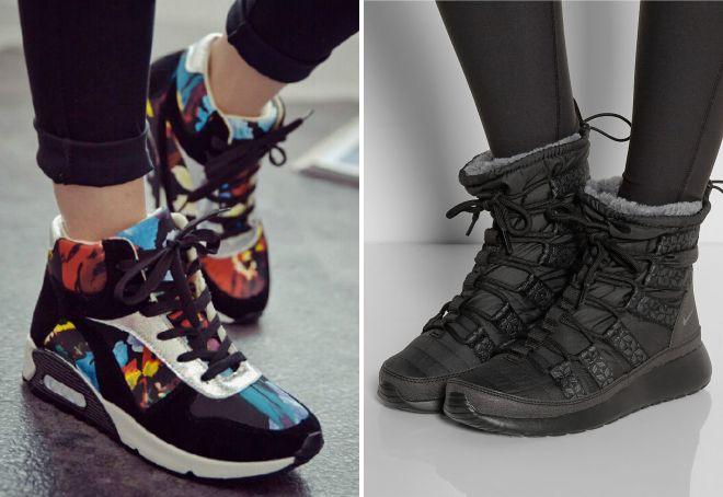 зимние ботинки найк