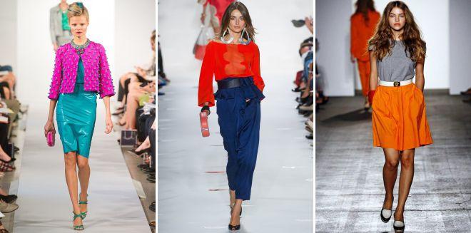 модное сочетание цвета в одежде 2018