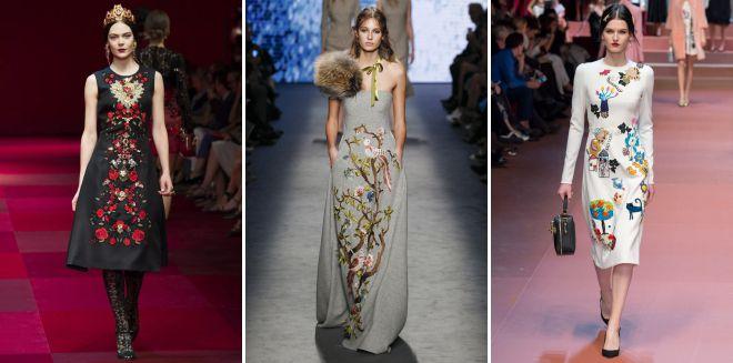 модная вышивка на одежде 2018
