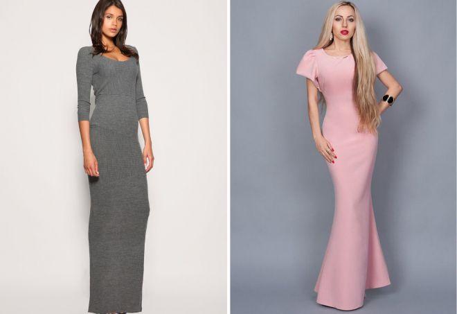 длинные облегающие платья