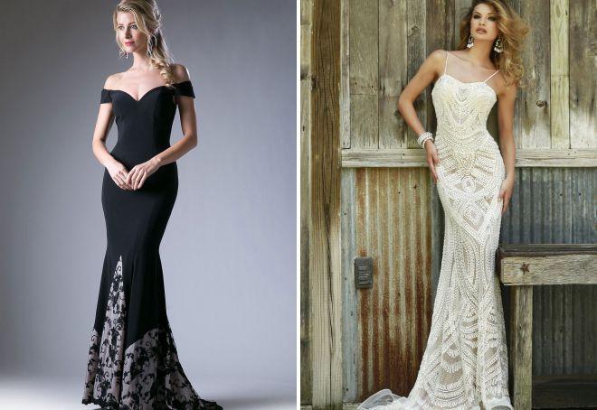 облегающие вечерние платья