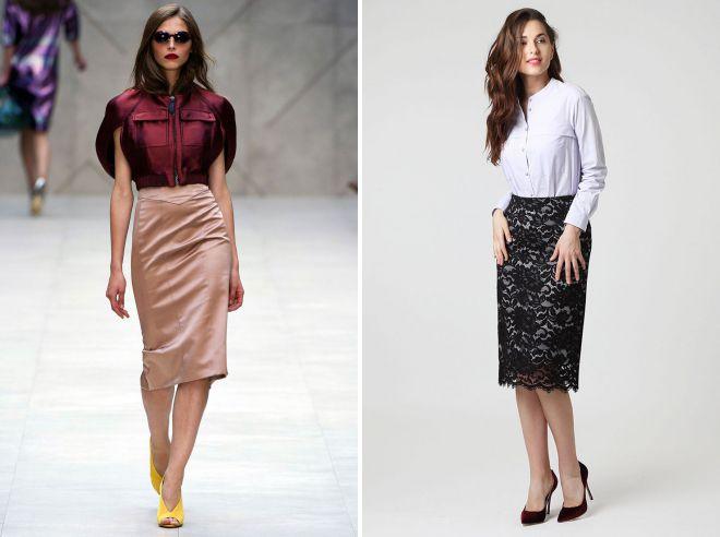 12c245f613a0 Стильные офисные юбки – карандаш, джинсовая, плиссе, кожаная, пачка ...