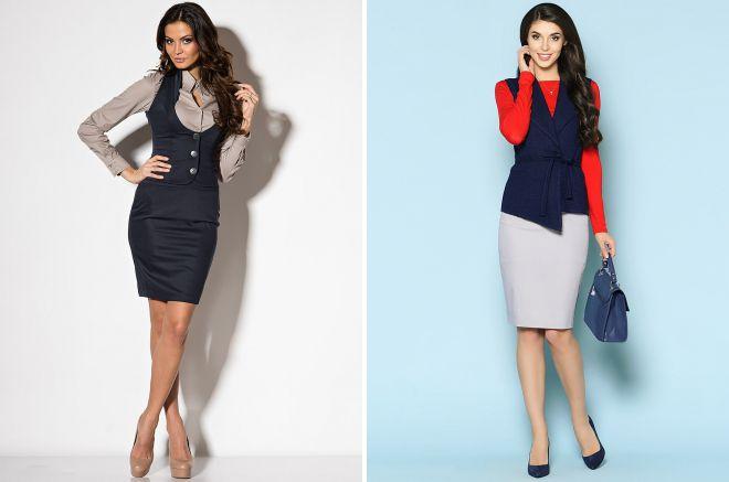 модные офисные юбки