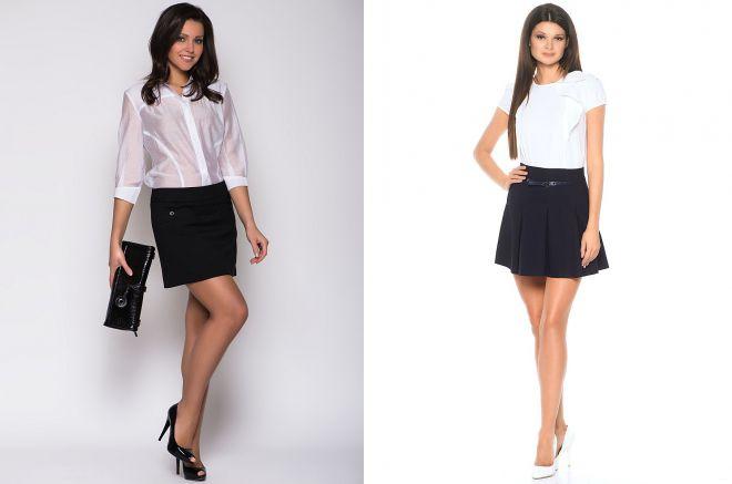короткие юбки в офисе