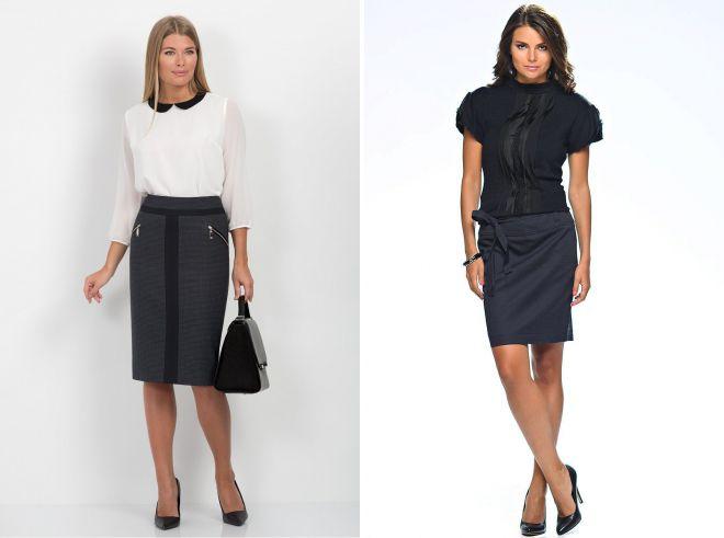 красивые офисные юбки