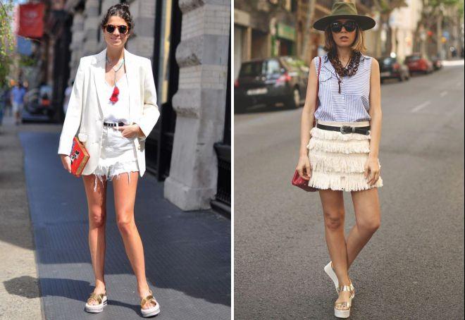 с чем носить блестящие сандалии