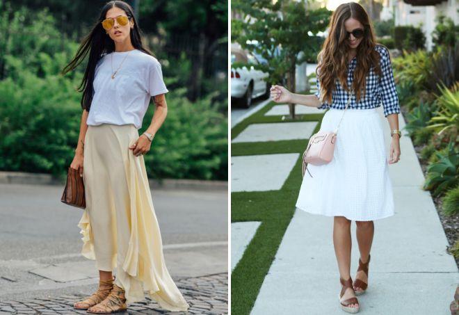 образ сандалии и юбка